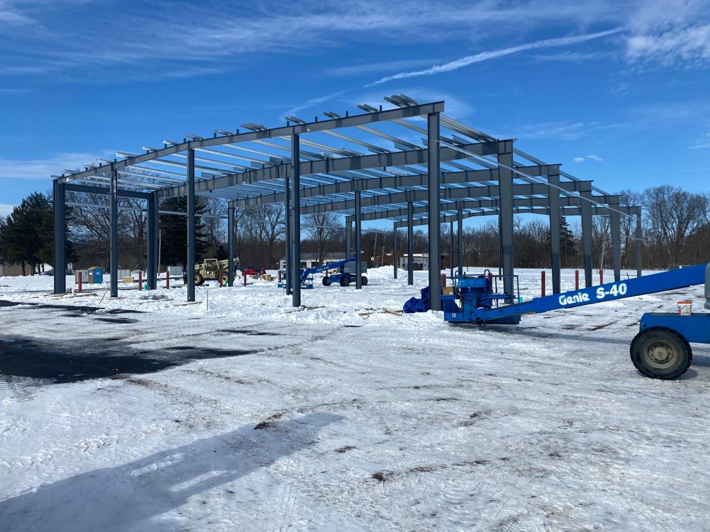 Steel Structure of new Dig-it building