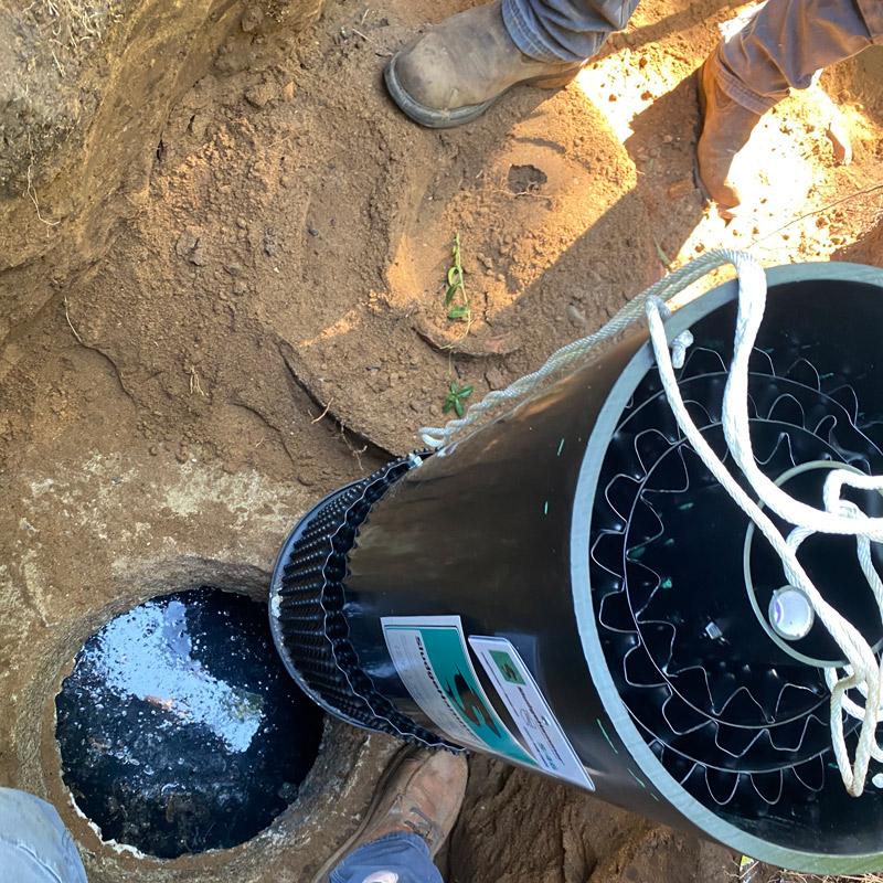 Sludge hammer unit installation